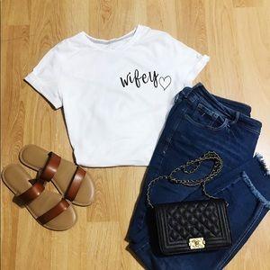 Tops - Wifey Tshirt👰🏼